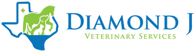Diamond J Equine Veterinary Services, Texas USA Logo